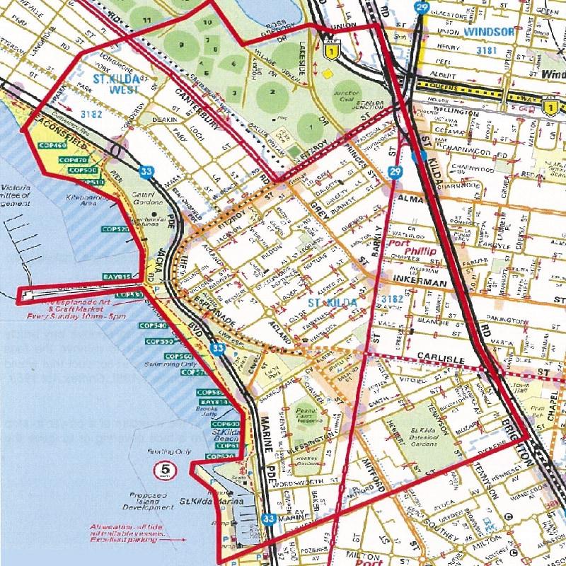 Map Port Phillip